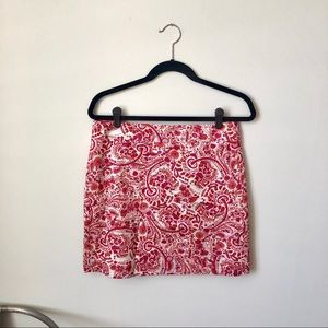 ANN TAYLOR LOFT ☀️ NWT Paisley Mini Skirt